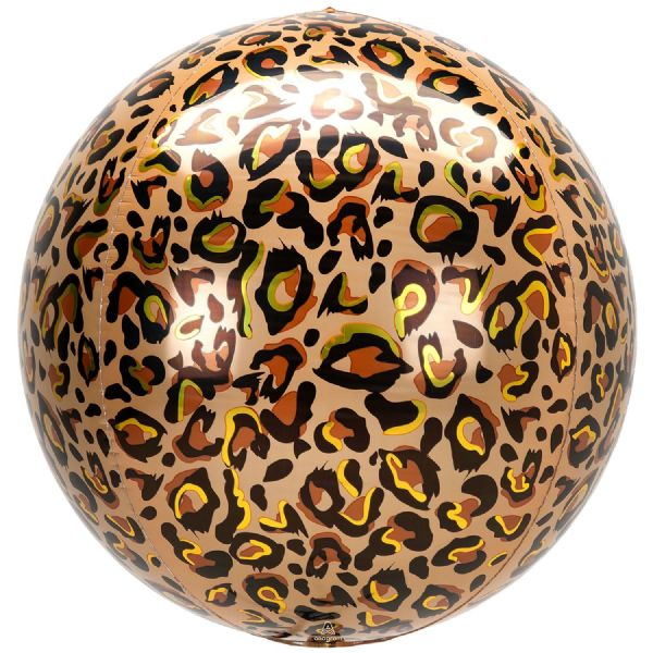 Animalz Leopard Print Round Orbz 15in Balloon